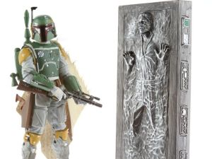 "Star Wars: Black Series Boba Fett 6"" Figure w/ Han Solo in carbonite SDCC Exclusive"