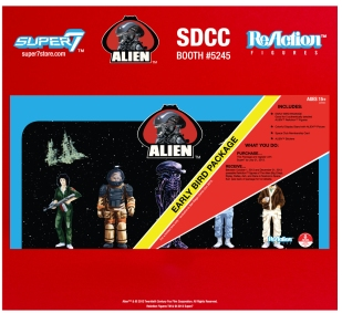 "Super7 SDCC 2013 Exclusive Alien ReAction Figure ""Early Bird Package"""