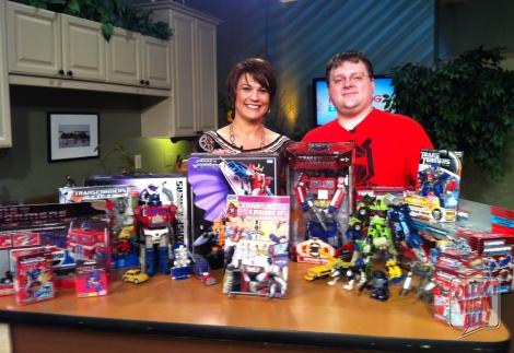 Heidi Petracek (CTV Morning Live) with Darryl Wall (owner of Giant Robot Comics), September 18, 2013. Photo credit: J. Sadi